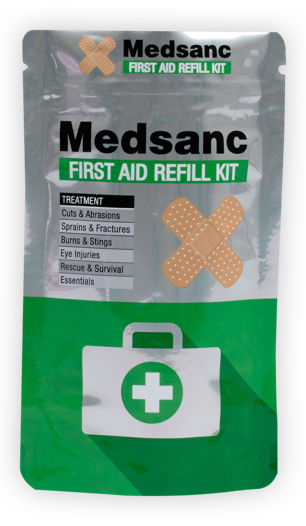 Medical stand up pouches supplied by Polypouch UK