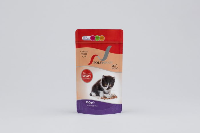 Pet Food stand up pouch supplied by Polypouch UK
