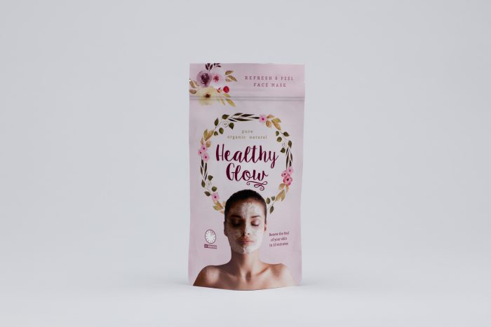 Beauty products stand up pouch by Polypouch UK