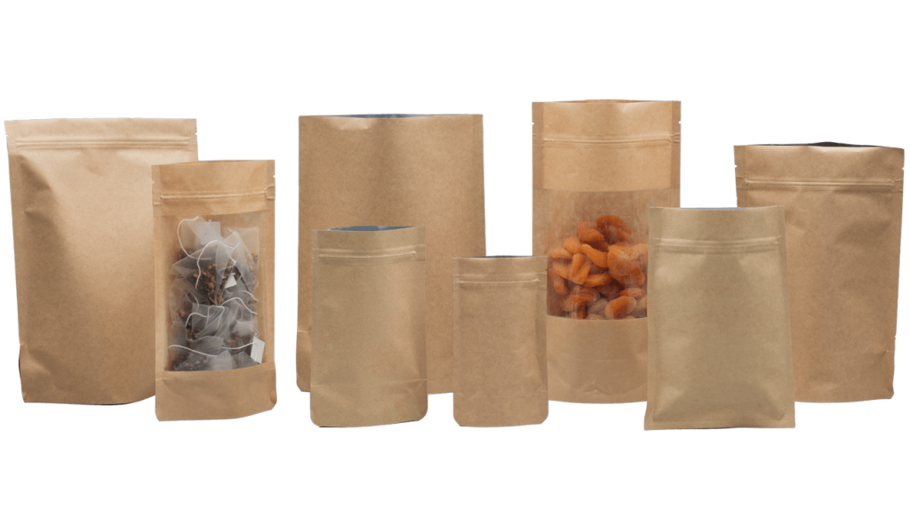 Kraft Pouches, Kraft Bags, Wholesale Kraft Pouches, Pouch Kraft Bag, Kraft Pouch Wholesale, Kraft Paper Bags, Standup Products, Printed, Various Style & Sizes